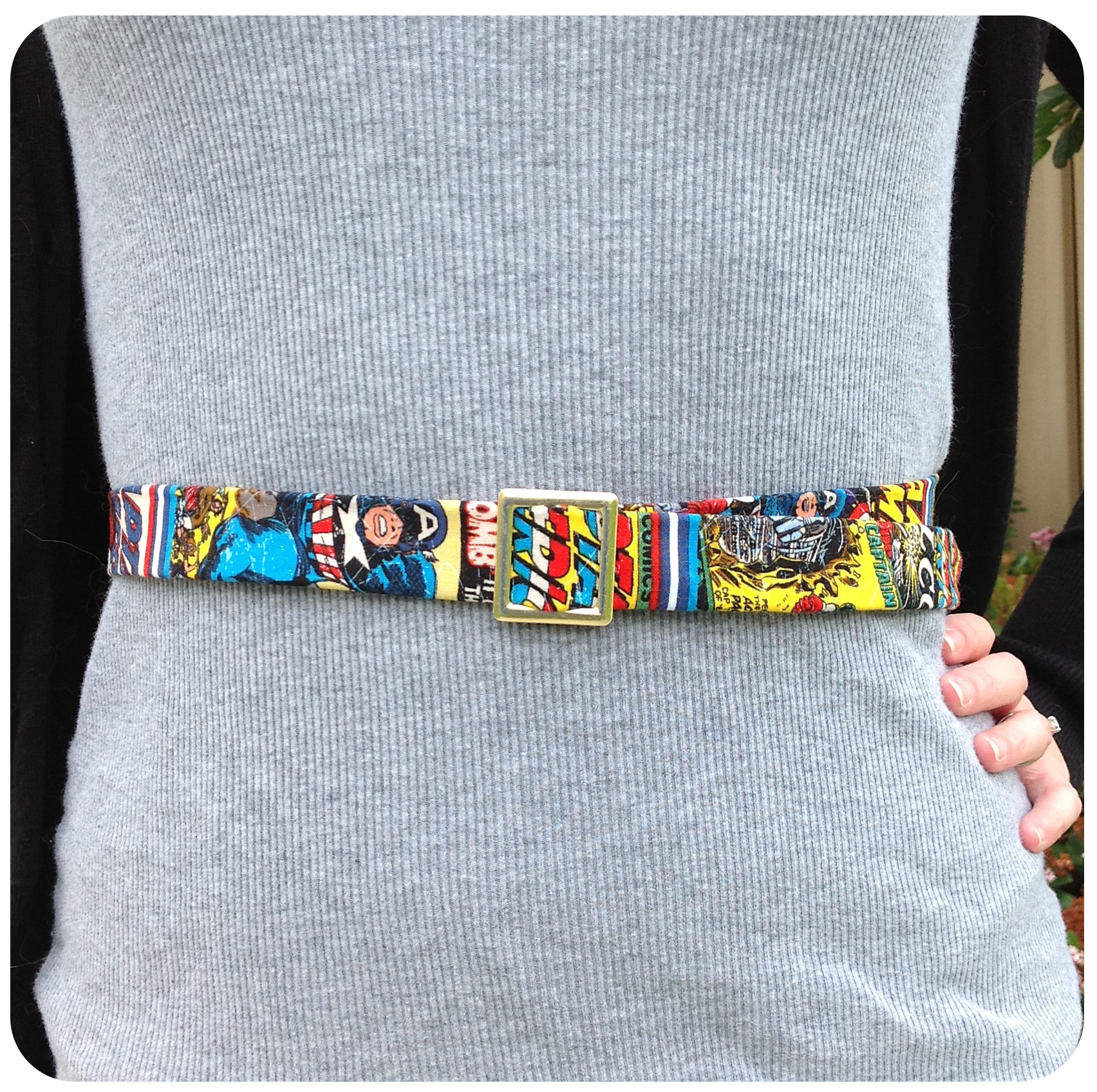 Diy friday captain america fabric belt set to stunning for Zerrissene jeans selber machen