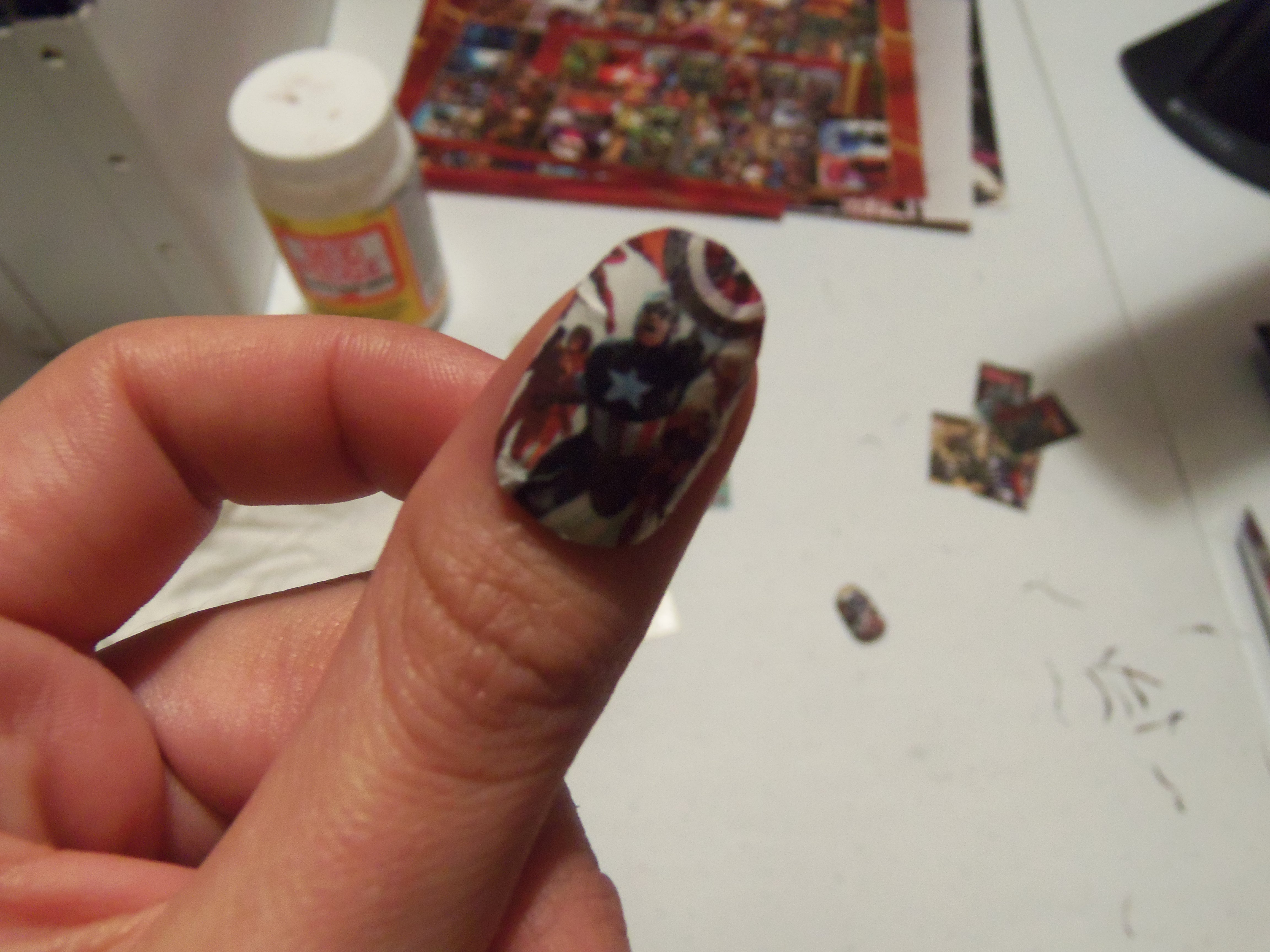 DIY Friday: Comic Book Acrylic Nails « Set to Stunning
