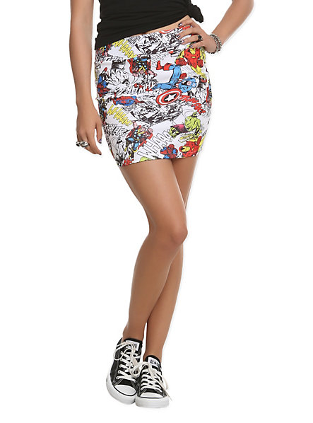 Marvel Skirt Hot Topic