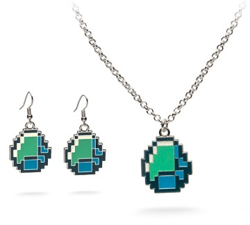 f051_minecraft_diamond_necklace_earrings