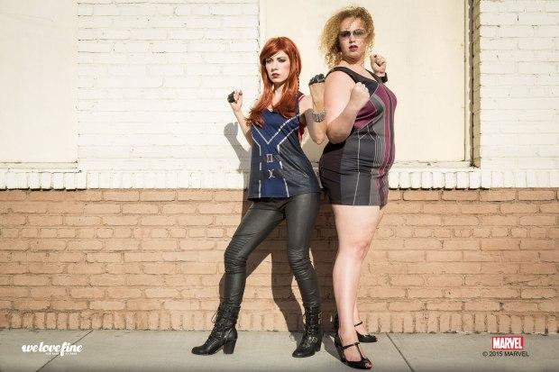 Black-Widow-Tieback-Tank-and-Hawkeye-Tunic-Dress